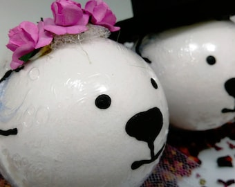 Bride & Groom White Bear Bath Fizzies