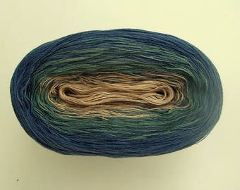 GENEVA --mega--  Color Changing Cotton yarn  865 yards/180 gr  Fingering Weight