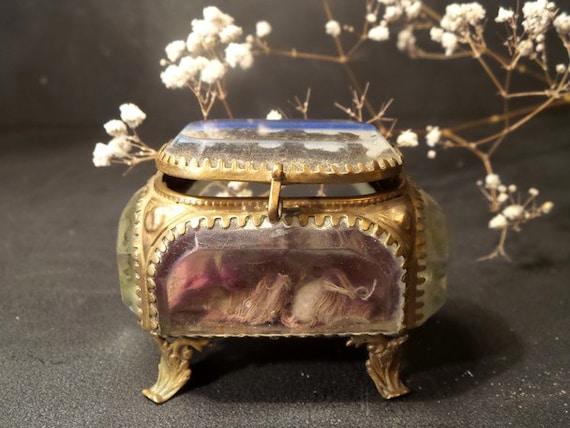 Items similar to Antique French Ormolu jewelry box Trinket box