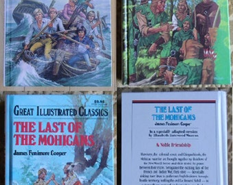Vintage Books - Great Illustrated Classics, The Swiss Family Robinson, The Last of the Mohicans - Baronet Books 1990/1992