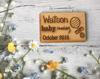 50 Pesonalized Baby Announcement Magnets