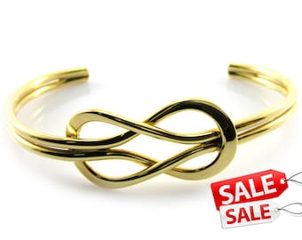 Gold Cuff Bracelet Gold Bracelet Cuff Gold Brass Cuff Bracelet Gold Brass Bracelet Cuff Gold Knot Bracelet Cuff Knot Bracelet Knot Cuff 030