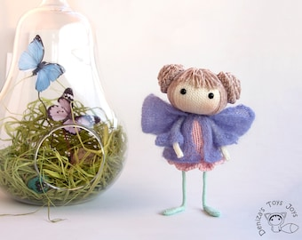 Fairy of Butterflies. The Doll - pdf knitting pattern. Knitted in the round.