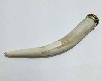 H55 Authentic Yak Bone Horn Pendant