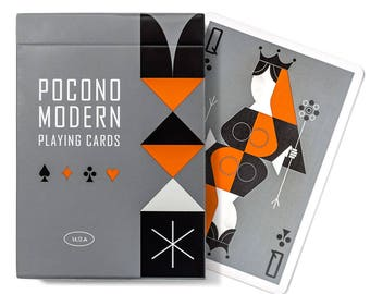 The Retro Deck - Playing Cards - Grey or White Deck