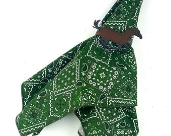Green Bandana Napkin Set of 2