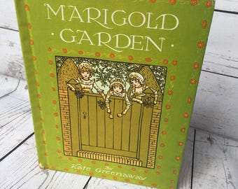 Marigold Garden by Kate Greenaway Poem Book With Vintage Images