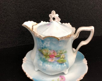 RS Prussia Syrup Pitcher with Plate