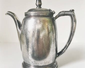Vintage 1936 Silver Plated Teapot from Union Pacific Railroad