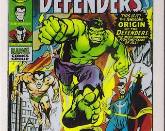Marvel #1 The Defenders Comic Card from 1984 FTCC
