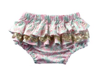 Easter ruffle bloomers, baby girl bloomers, ruffle bloomers, pink bloomers, bunny ruffles