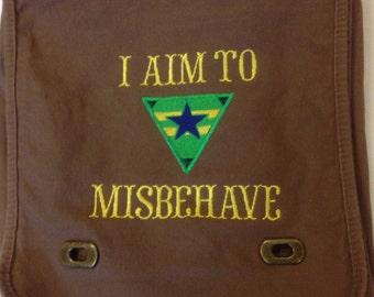 Messenger Bag - I Aim to Misbehave