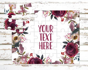 Create Your Own Puzzle - Pregnancy Announcement - Custom Puzzle - Personalized Puzzle - Announcement Ideas - Wedding Announcement - CYOP0146