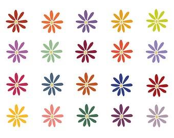 Clipart Sale 60% off, Fall Flower Clipart, Digital Design, Flower Clipart, Kids Clipart, Scrapbooking Supplies, Flower Clipart Set #075