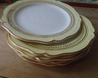 Dinner plates - plate GIEN collection Paimpol - French Faience - set of 6 - 60's