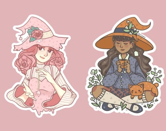 Cute vinyl witch stickers