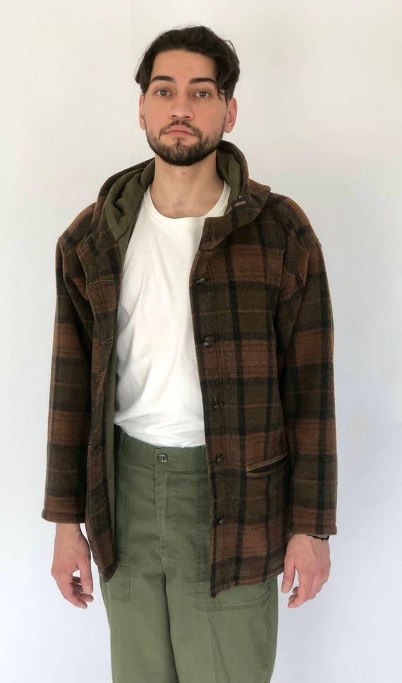 Timberland Flannel Jacket Hoodie ~ Unisex ~ Medium