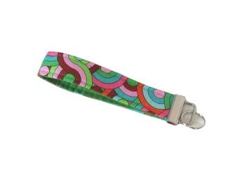 Fabric Keychain, Cloth Key Fob, Handmade Key Chain Wristlet, Wrist Lanyard, Key Lanyard, Key Ring, Fabric Key Holder
