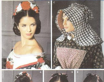 Simplicity 5740 Misses' Civil War Millinery Sewing Pattern