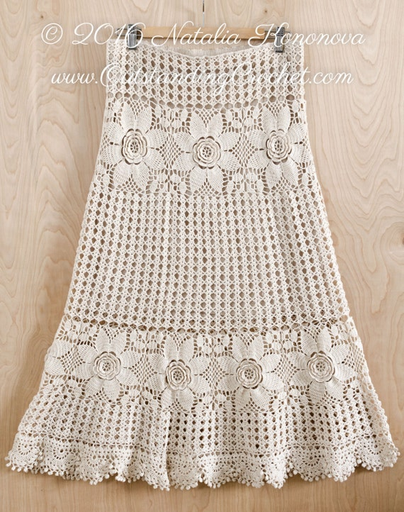Crochet Skirt PATTERN Country Fair Crochet Lace Women