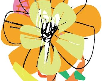 Summer dream. Print. Poster. Floral