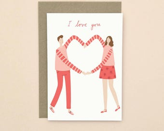 I Love You Illustrated Card A6
