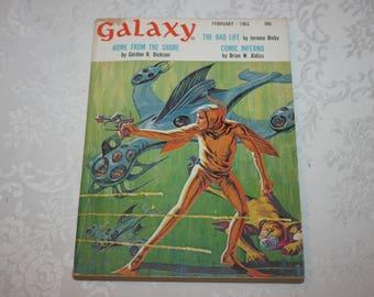 Vintage Galaxy February 1963, Science Fiction Magazine