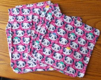 Baby Burp Cloths and Washcloths  Panda Bear theme