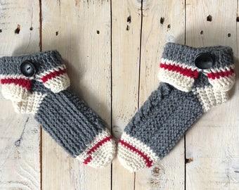 Womens slippers, crochet slipper socks, slipper socks, sock monkey slippers, sock monkey slipper socks, work sock slippers