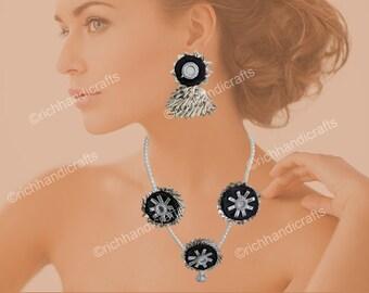 Silver Gotta Jewelry | Fabric Jewelry | Fashion Jewelry | Wedding Jewelry