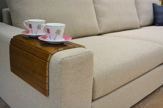 Couchtisch handgemacht walnuss holz tablett couch - Sofa tablett tisch ...