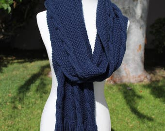 Long Chunky Knit Scarf