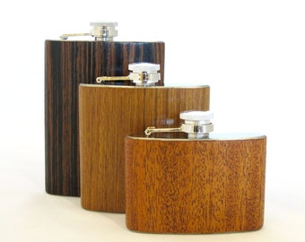 4oz African Sapele Wood Flask Limited Edition