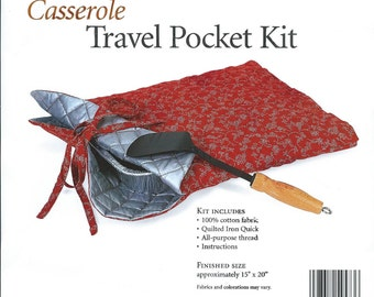 Casserole Travel Pocket Potluck Covered Dish Carrier Kit Nancy's Notions New