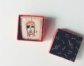 David Bowie - Halloween Jack - boxed - face - brooch