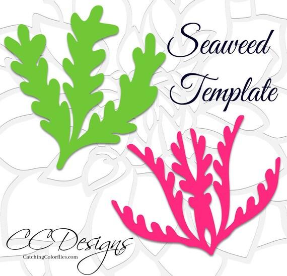 seaweed svg cut files seaweed template printable flower