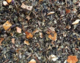 Citrus mint green tea~ refreshing organic tea bags