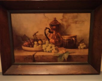 Antique painting on canvas board