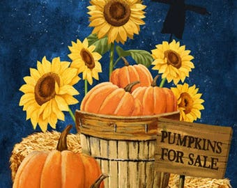 "Pumpkins For Sale 24"" x 45"" Panel from Northcott by the panel"