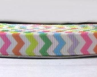 "2 Yards 3/8"" Pastel Rainbow Easter Spring Baby Shower Chevron Zig Zag Print Grosgrain Ribbon"