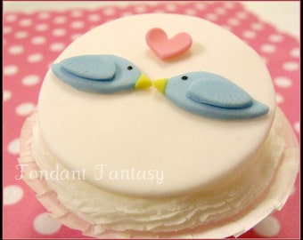 Lovebirds Cupcake Toppers