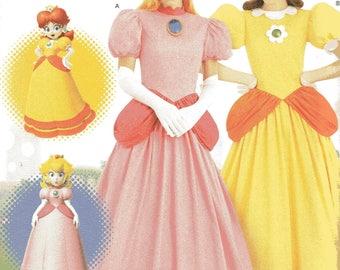 Nintendo Super Mario Simplicity PRINCESSES DAISY u0026 PEACH Costumes Pattern 8476 Misses Sizes 14 16 18 & Sewing Pattern Misses Super Mario Princesses Costumes