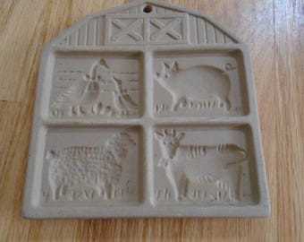 SALE     Pampered Chef Farmyard Friends  cookie mold 1994