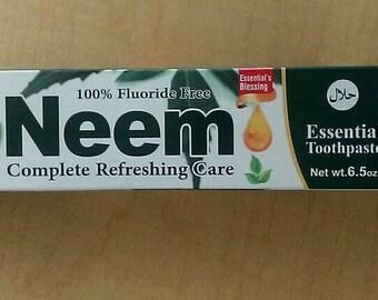 100% Flouride free Neem or Miswak toothpaste