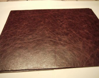 """Leather 5 pieces panels Bordo Top Quality Large 18"""" x 24"""""""