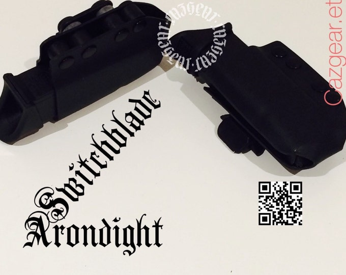Arondight Switchblade Double Stack Horizontal Mag Carrier with Polymer Belt Clip Only