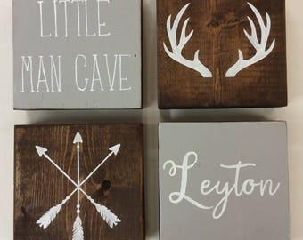 Boys Bedroom Wall | Boys Bedroom Decor | Little Man Cave | Rustic Boys Room | Rustic Nursery | Kids Wall Art | Rustic | Personalized Sign
