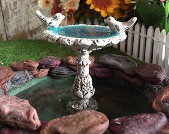 Fairy Garden Mini Resin Bird Bath - Fairy Garden Accessory or Fairy Garden Idea