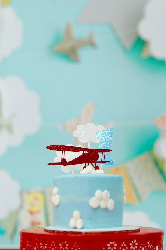 Airplane Cake topper bi plane cake topper Airplane cake