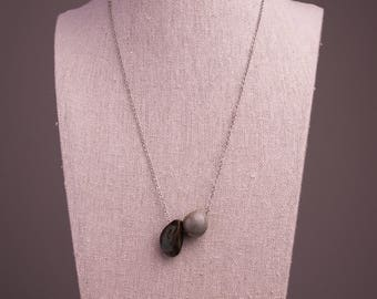 Ceramic Beaded Necklace// Simple Necklace// Stoneware Ceramics//